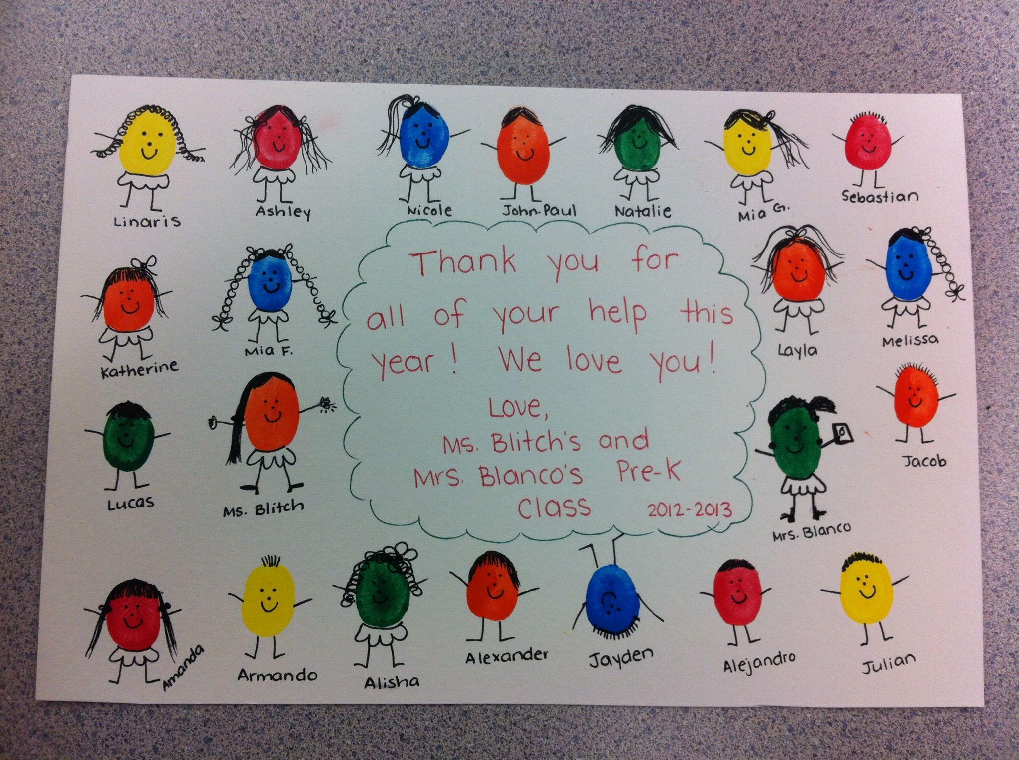 Pin By Christine On Handprint Footprint Activities Student Teacher Gifts Teacher Thank You Kindergarten Projects