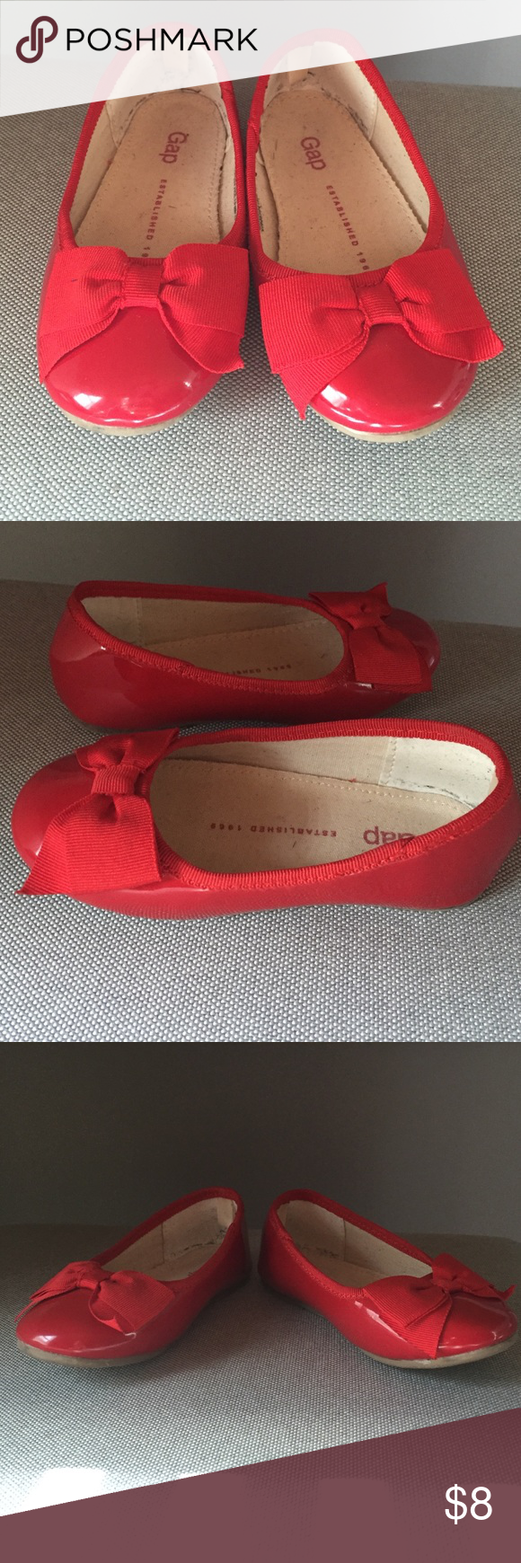 4d1d035a662e ... Patent Leather Bow Flats are perfect for toddler girls to wear with  upcoming holiday wear. Only worn once...my daughter outdrew them quickly.  GAP Shoes ...