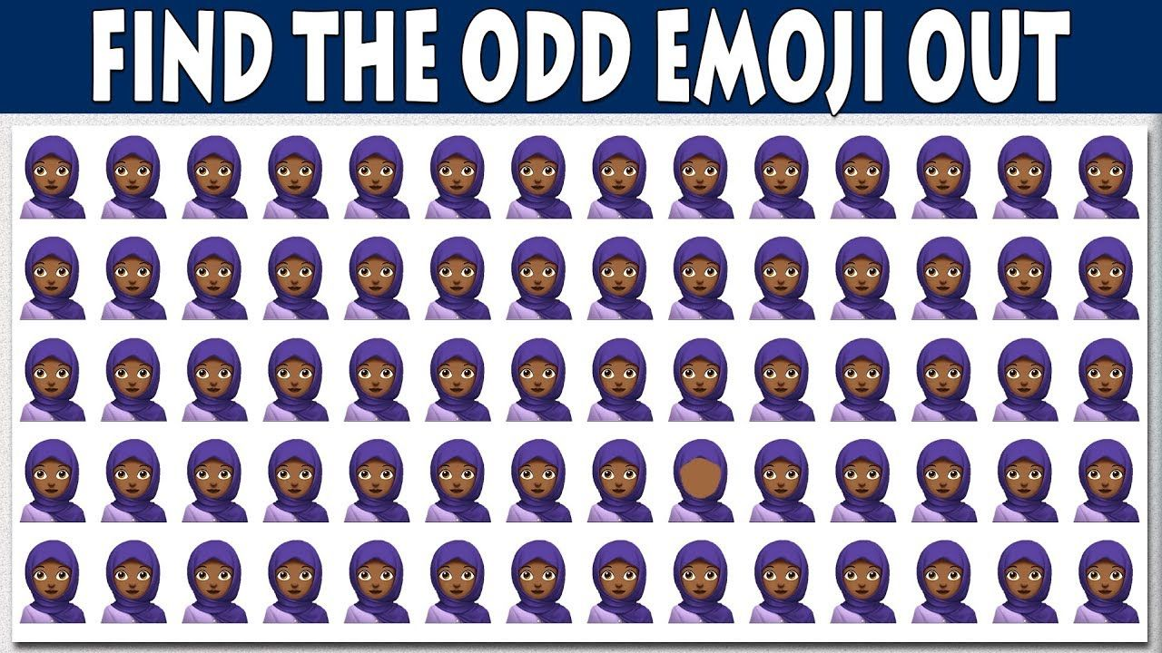 Find The Odd Emoji One Out Emoji Odd One Out Easy Puzzles For