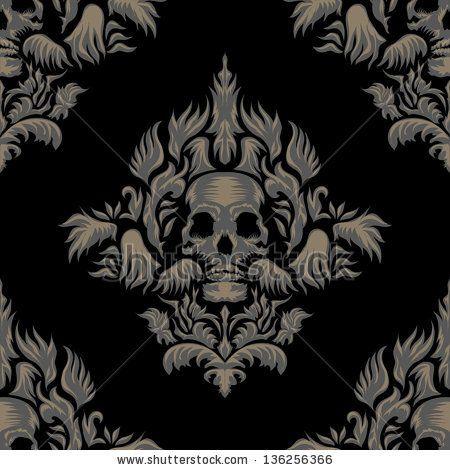 victorian gothic damask pattern by mad ninja via