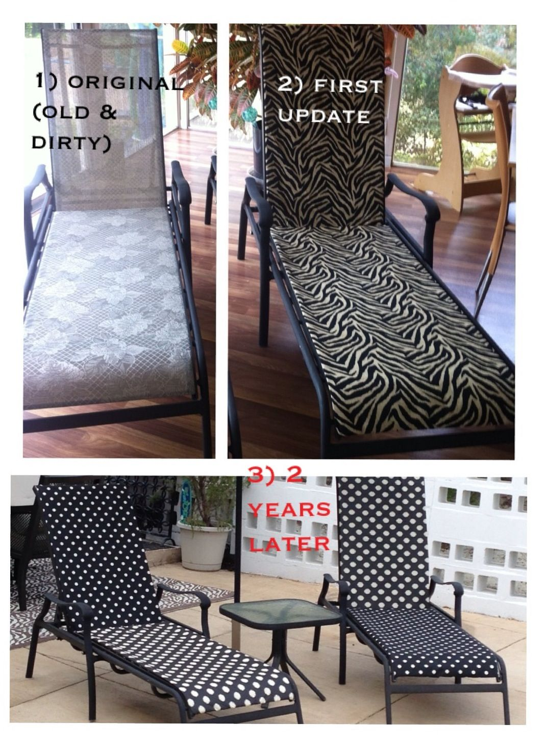 redo sling patio chairs chair cover rentals utah revive old furniture with quotsunshade quot outdoor fabric