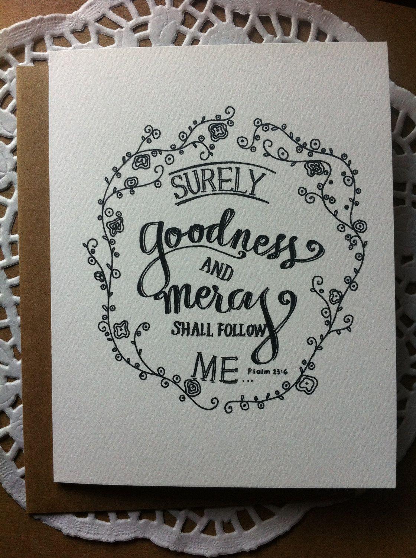 Surely Goodness - Paper Goods - Blank Notecard - Kraft Envelope - Encouragement $3.50, via Etsy.