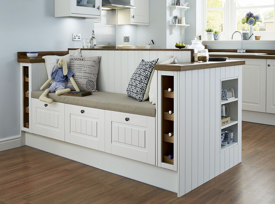 Tongue and groove kitchen cabinets - Create A Bespoke Seating Area With Our Burford Tongue And Groove Kitchen Range The Perfect
