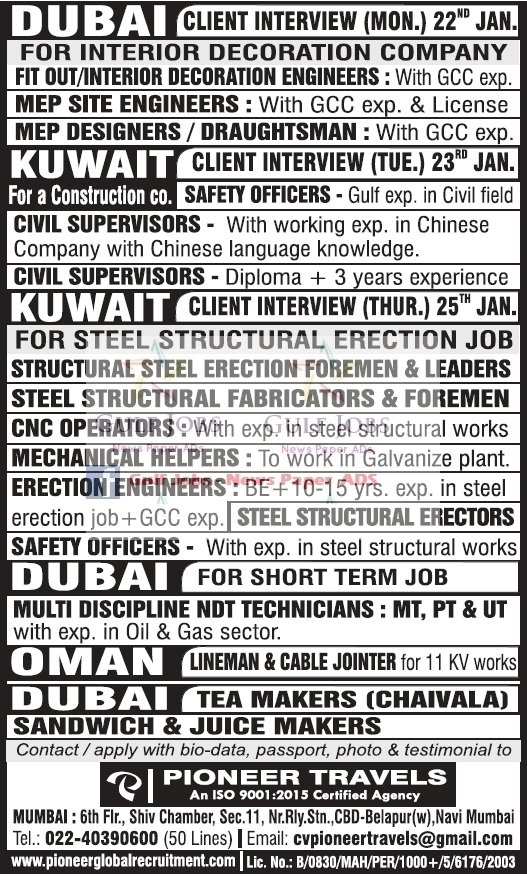 Gulf NEWSPAPERS job vacancy,news paper for gulf jobs in