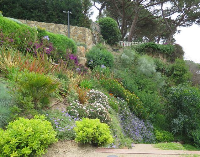 Jardín en pendiente, junto al mar Landshaft - empresa de