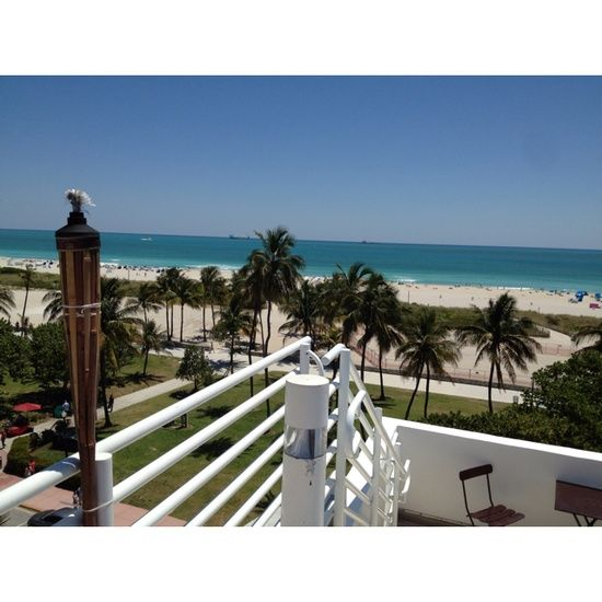 Miami Beach: Miami ... View from the Congress Hotel pool bar on Ocean Drive Hotels in Ocean Drive!