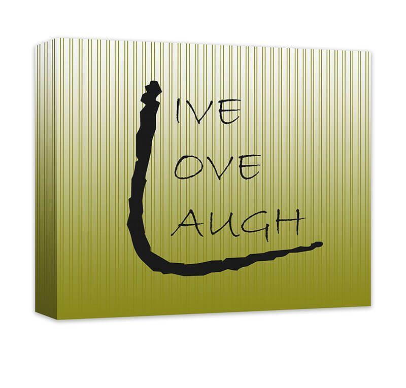 Live Love Laugh III Canvas Wall Art | Word art design, Word art and ...