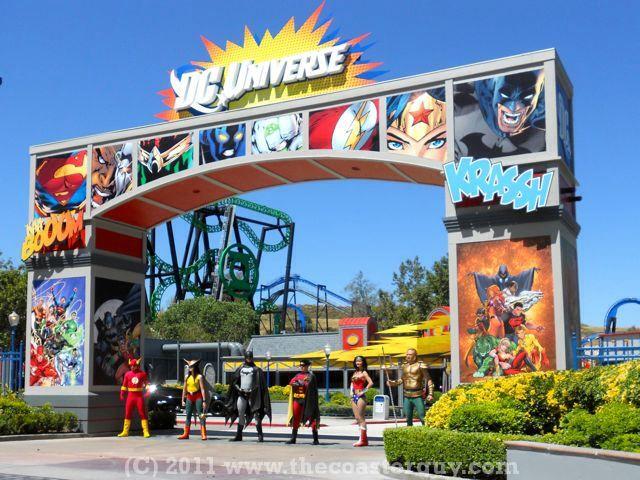 Dc Universe Six Flags Land Family Fun Time Theme Parks Rides Family Fun Night