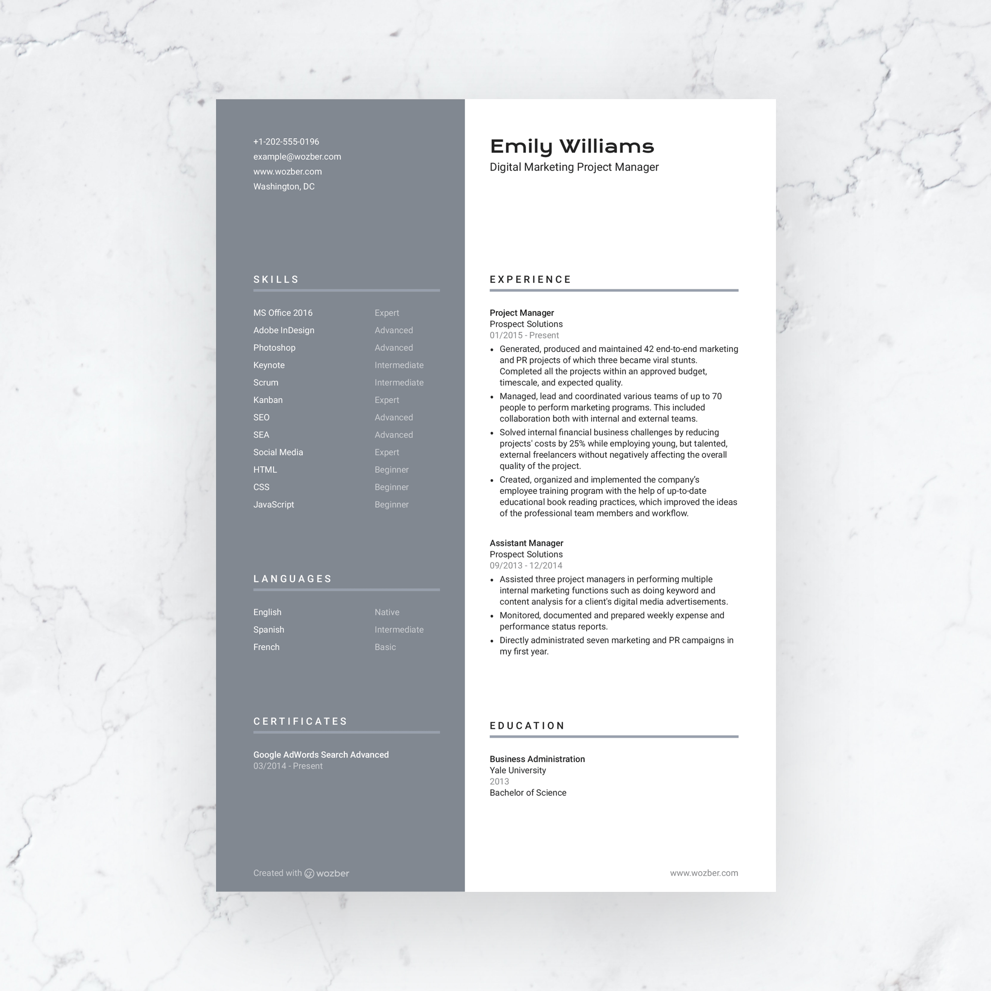 free modern and customizable resume template  you can