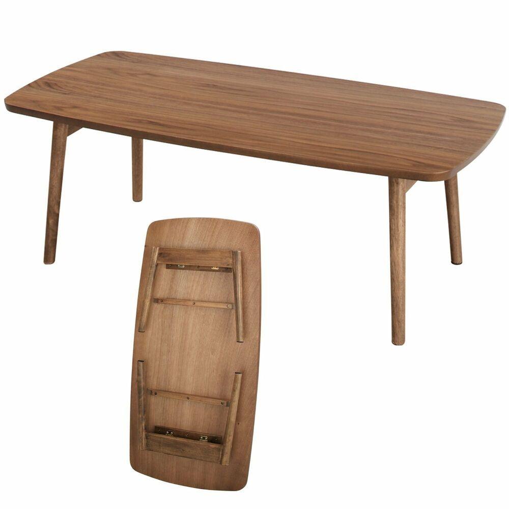Wooden Folding Table Brown Coffee Center Foldable Storage Tac 229wal Azumaya New Azumayajapan Scandin In 2020 Center Table Folding Coffee Table Foldable Coffee Table