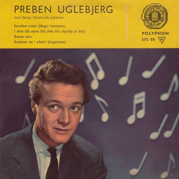 """""""I dine blå øjnes blå"""". Preben Uglebjerg leverer en frejdig, dansk version af Volare"""" #ESC1958 #Italien"""