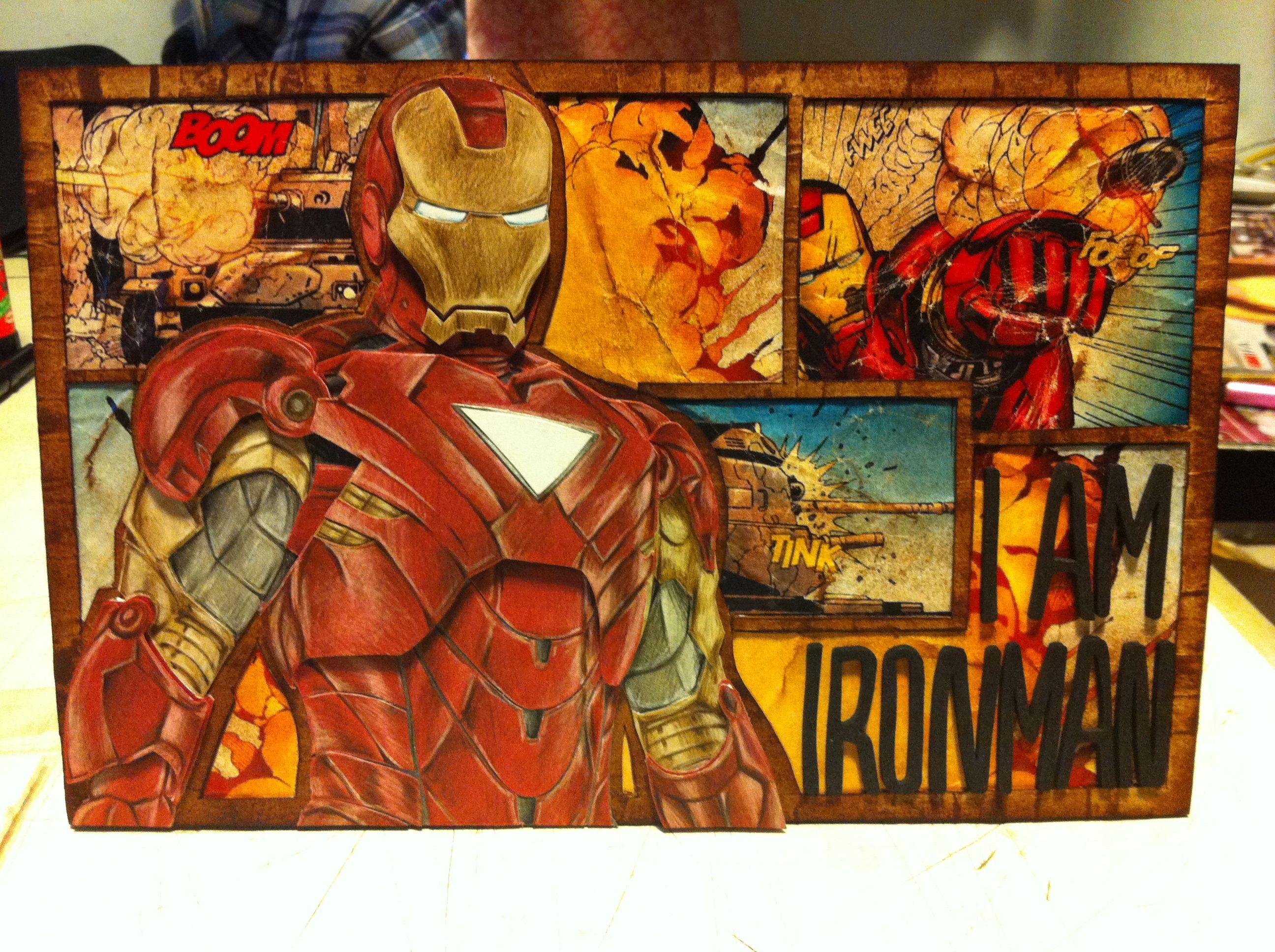 Handmade Iron man birthday card DIY Pinterest – Iron Man Birthday Card