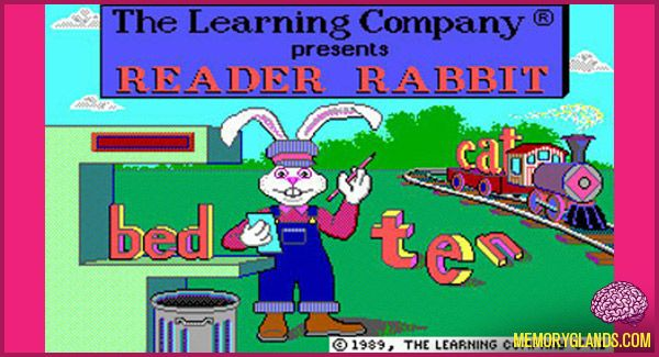 Reader Rabbit Software From The Learning Company 1989 With