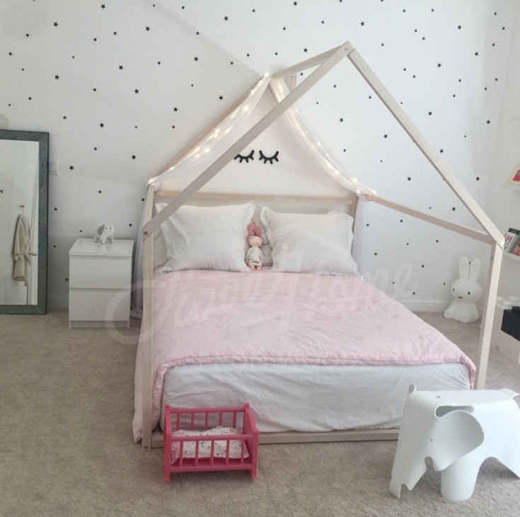 Frame bed FULL/ DOUBLE, house bed, bed house, Montessori nursery ...