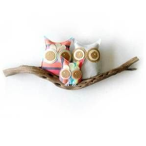 and Baby Makes Three - Owl/ Driftwood Wall Piece