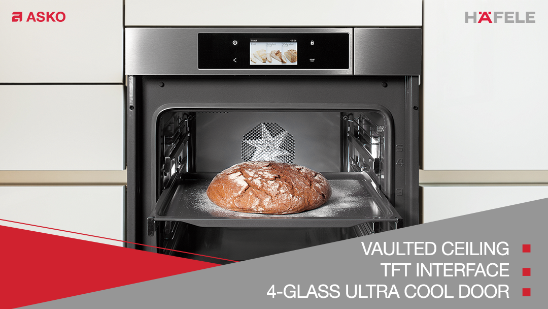 ASKO Pro Series Oven will hone your cooking skills. Its distinct vaulted ceiling ensures efficient circulation-distribution of heat. It also has an intelligent TFT interface. Its 4-Glass Ultra Cool door allows the highest level of heat insulation. Its design makes cleaning easy.