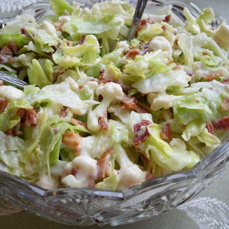 Cauliflower Lettuce Salad | Recipe | Lettuce salad recipes ...