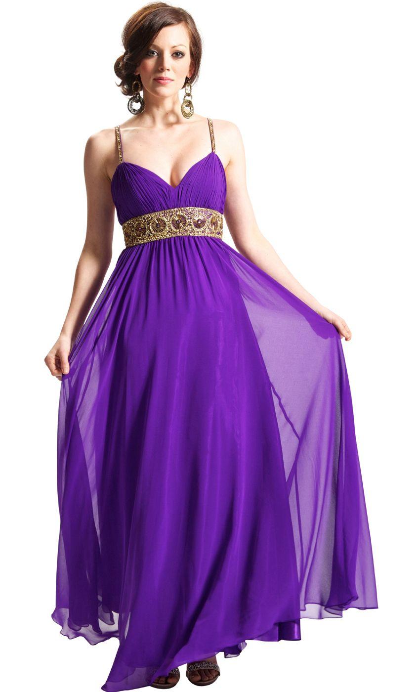 Greek goddess chiffon starburst beaded full length gown