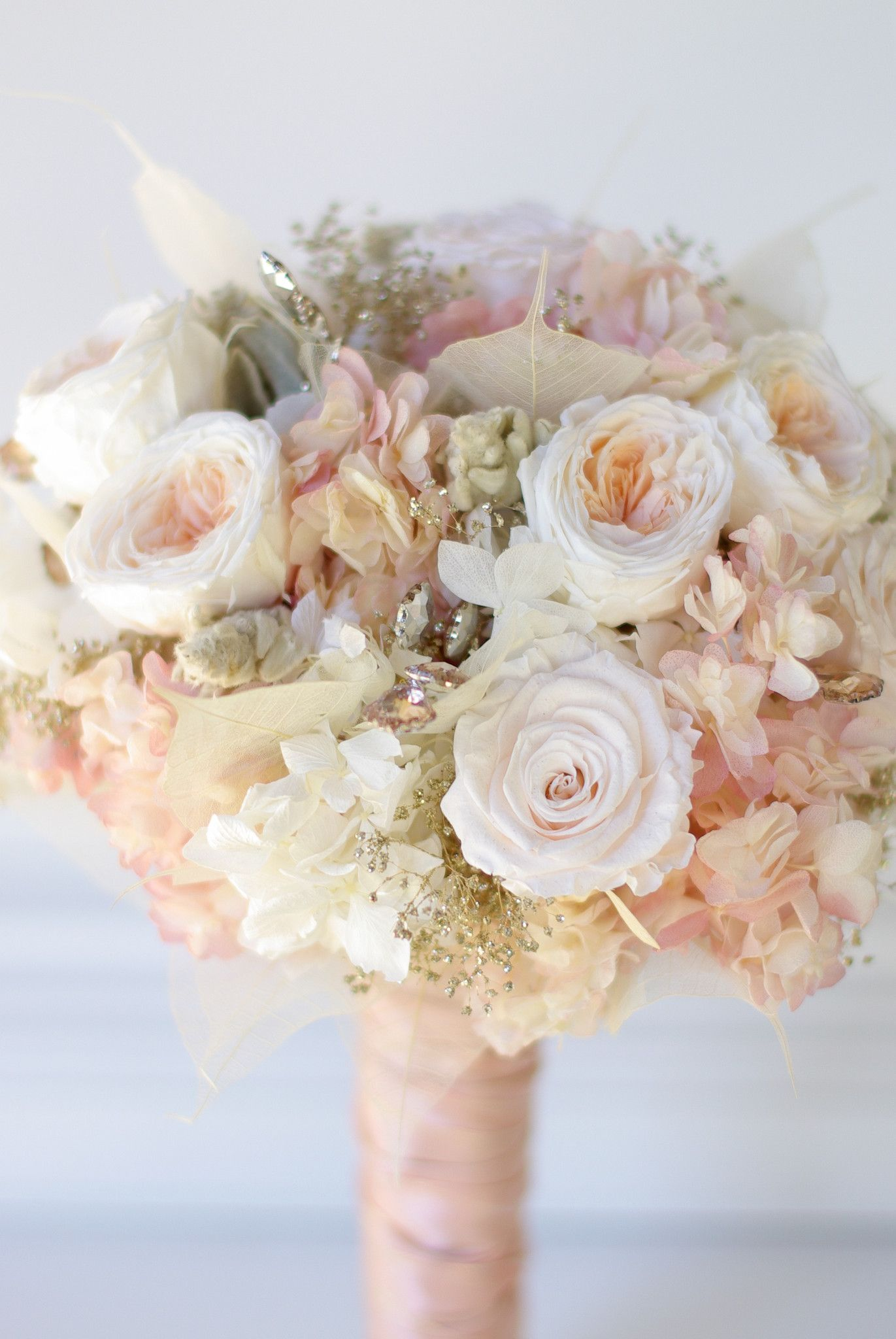 Rose gold bouquet real flowers cotton candy and gold bouquet all preserved real flowers to last for years cotton candy pink hydrangea blush izmirmasajfo Gallery