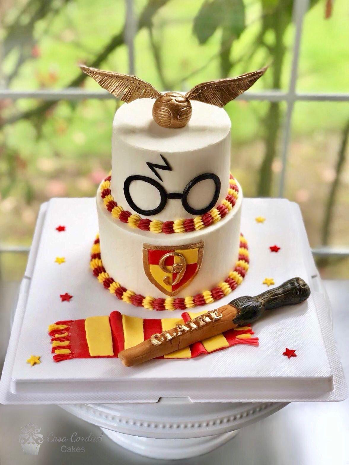 Harry Potter Birthday Cake Tortendeko Schokolade Party Harry Potter Geburtstagsparty Ideen