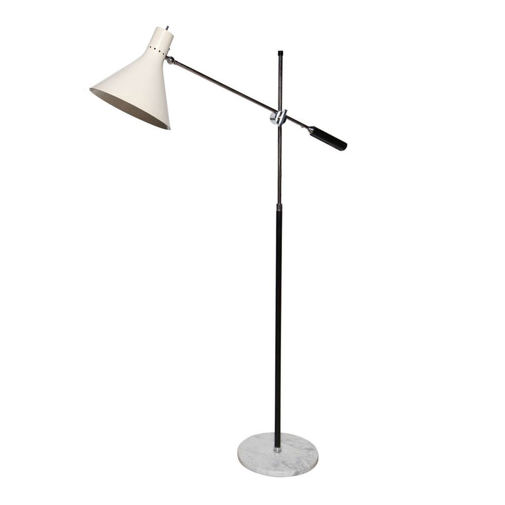 Gino Sarfatti For Arteluce Single Arm Floor Lamp From A Unique Collection Of Antique And Modern Floor Lamps At H Arm Floor Lamp Floor Lamp Vintage Floor Lamp