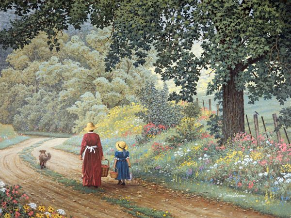 The Berry Pickers JohnSloaneArt.com - John Sloane - Gallery - The Slow Lane