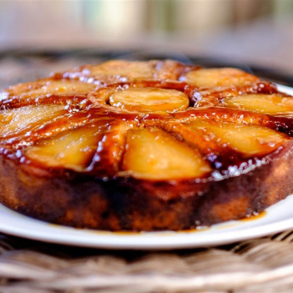 Pear And Amaretto Upside-Down Cake