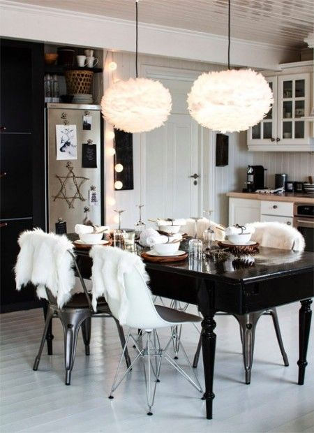 Country meets modern in black and white kitchen