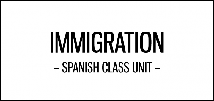 Activities for Spanish class on the topic of immigration featuring cultural resources, including interviews, songs and a political cartoon.