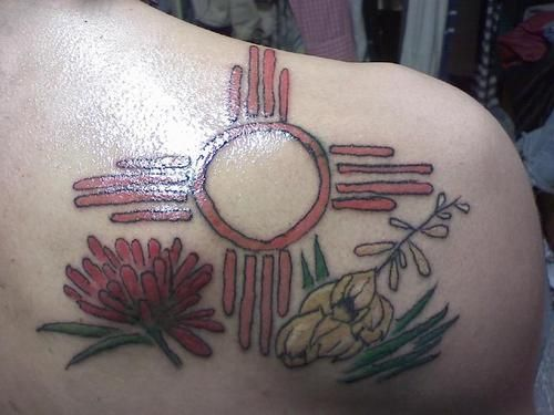 Red Zia Sun Tattoo Picture At Checkoutmyink Tattoos