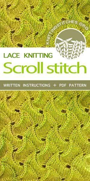 Knitting Patterns Stitches Knitting Stitches — Lace Knitting ... #laceknitting