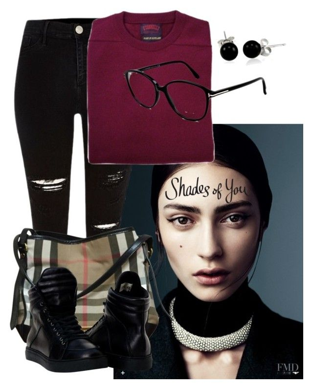 Dark winter #02 by yessyzc on Polyvore featuring polyvore, fashion, style, River Island, Burberry, Bling Jewelry, Tom Ford and clothing