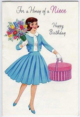 Vintage Niece Card Vintage Birthday Vintage Birthday Cards