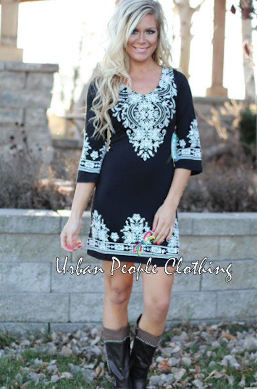 a8b793fffbd2 Bohemian URBAN PEOPLE CLOTHING Moroccan Boho Chic BLACK/WHITE Dress/Tunic  Small #urbanpeopleclothing #TunicDRESS #Casual