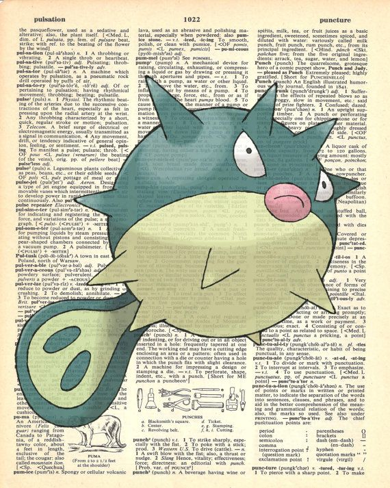 Qwilfish Pokemon Dictionary Art Print by MollyMuffinsPrints