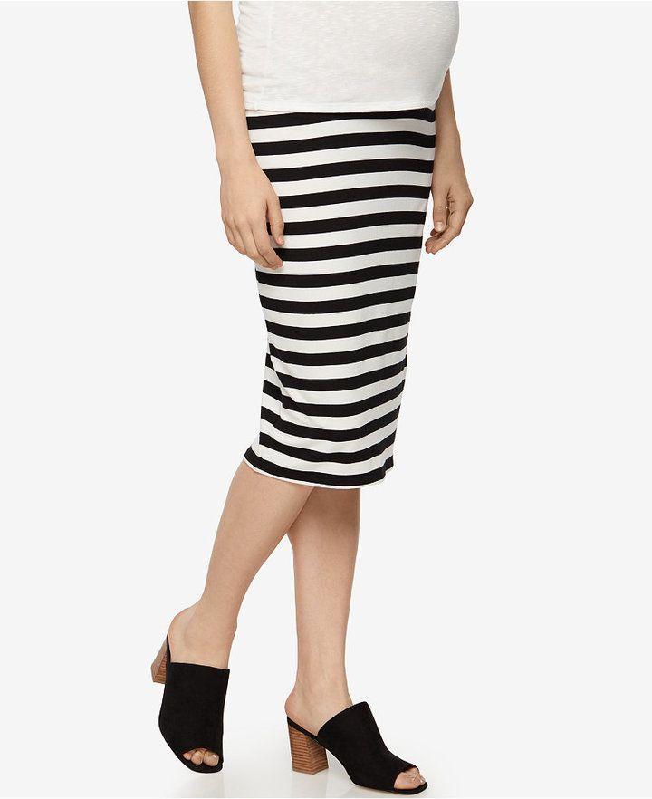 6c8fa21f2b A Pea in the Pod Maternity Striped Pencil Skirt
