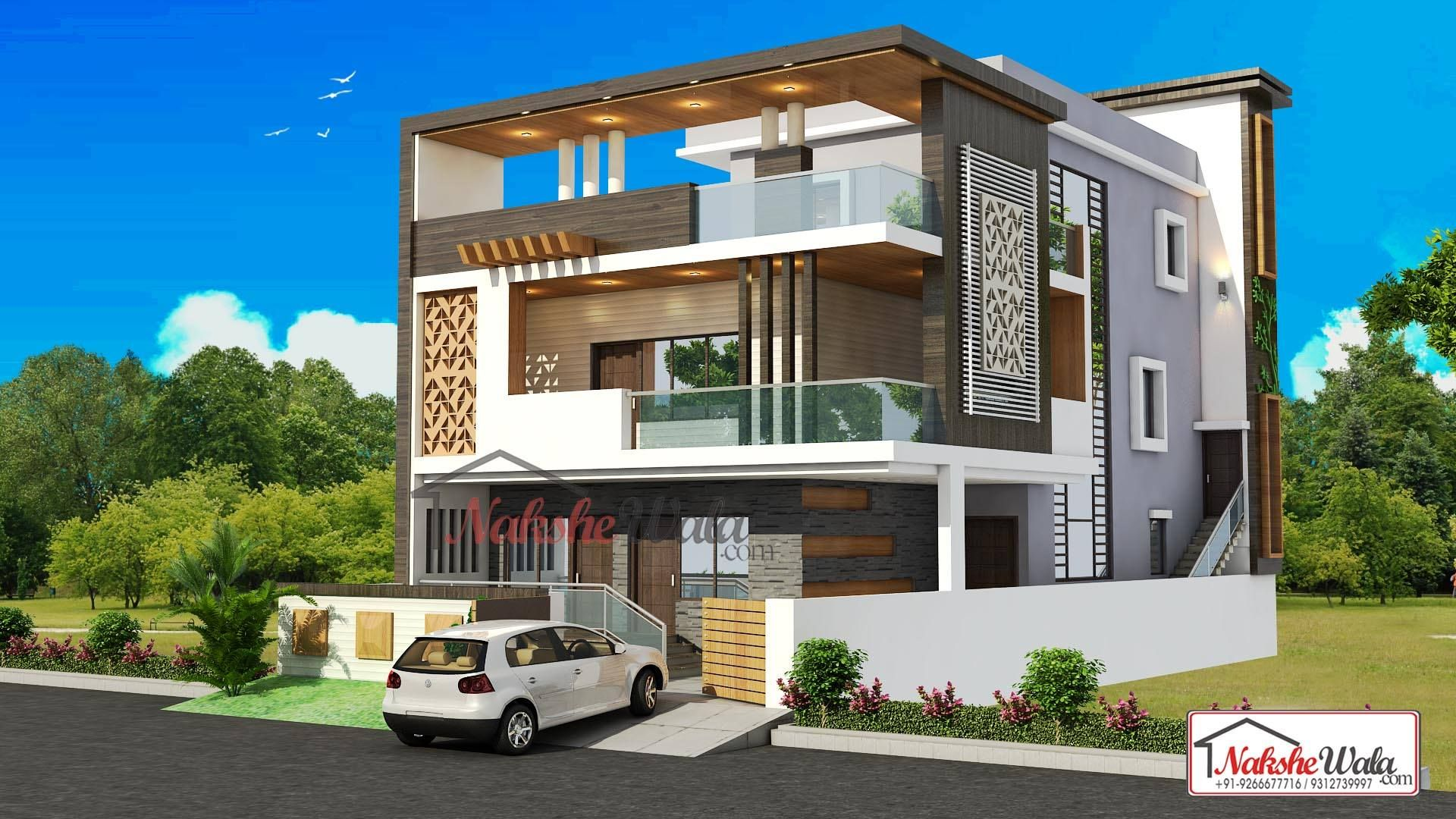 Front Elevation Double Floor House Design Valoblogi Com