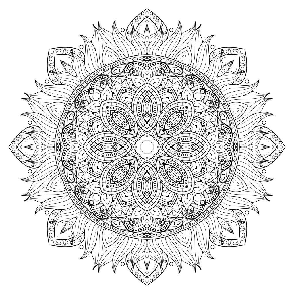 5 free printable coloring pages mandala templates mandalas mandala coloring pages. Black Bedroom Furniture Sets. Home Design Ideas