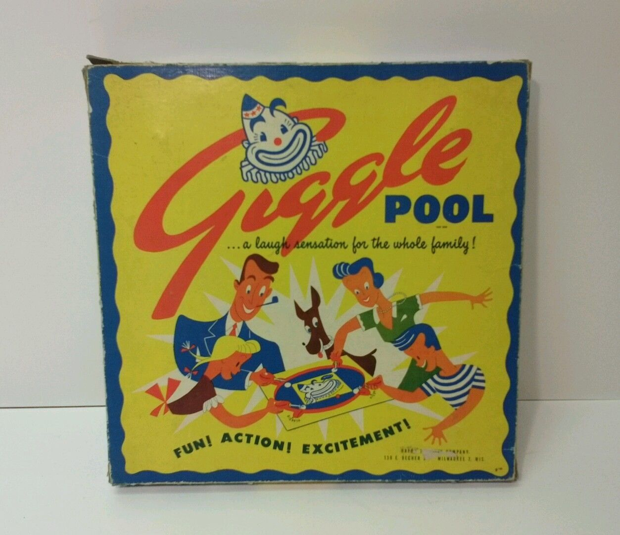 Giggle pool board game happy endlaco company 1943 vintage complete ebay