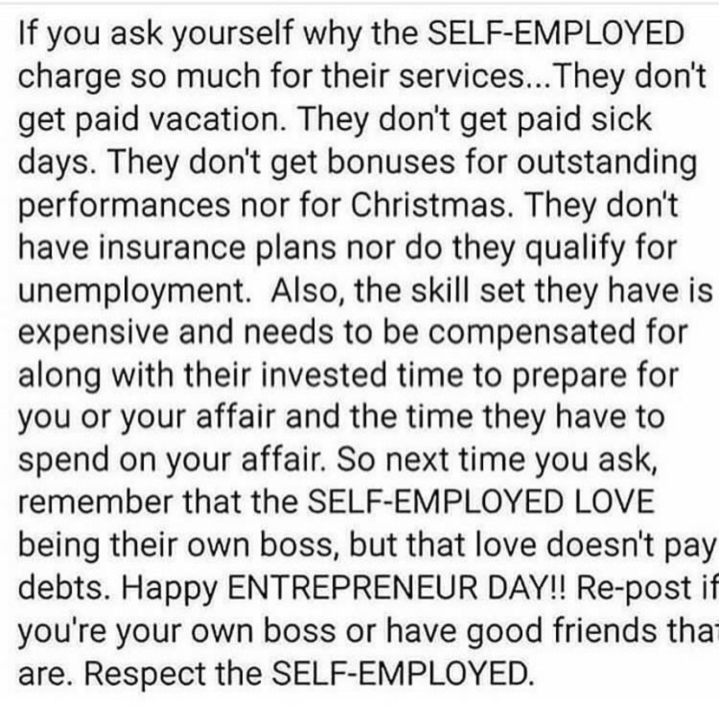 It S Supposed To Be For The Self Employed Is The High Premium