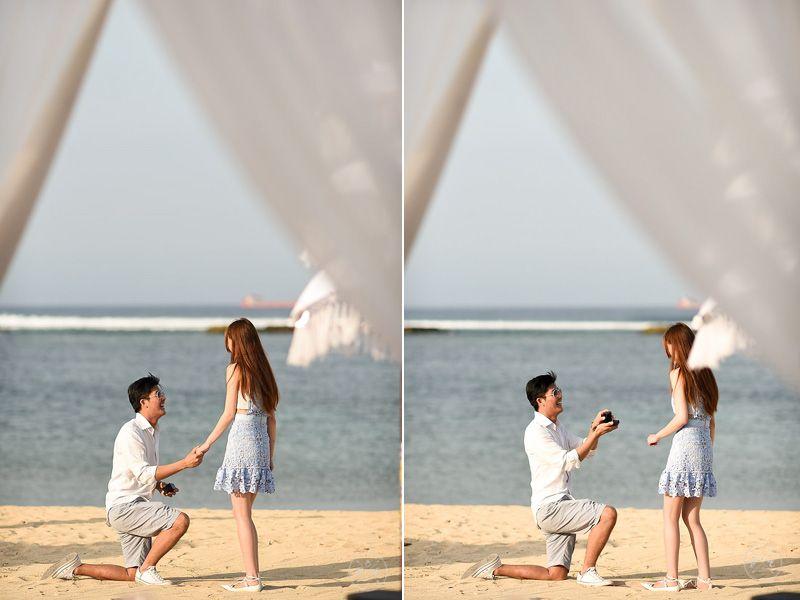 Romantic Beach Marriage Proposal Arranged By Proposalenvy Bali