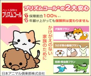 プリズムコール 日本アニマル倶楽部 ペット保険 ペット バナー