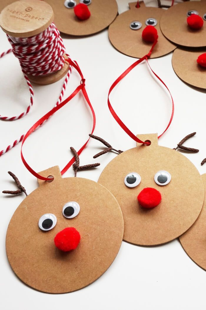 Rudolph gift tags easy christmas craft wraps easy and - Weihnachtsgirlande basteln ...
