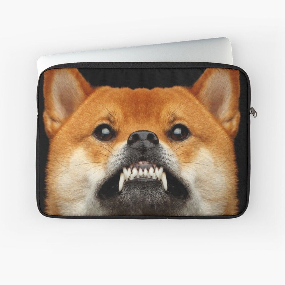 Shiba Inu Aggressive Shibes Dog Snarling Showing Teeth Funny Face Pet Cute Puppy Animals Gifts Safe Fitting Face Men Women Laptop Sleeve By Dolphin Graphic In 2020 Cute Puppies Pet Gifts Pets