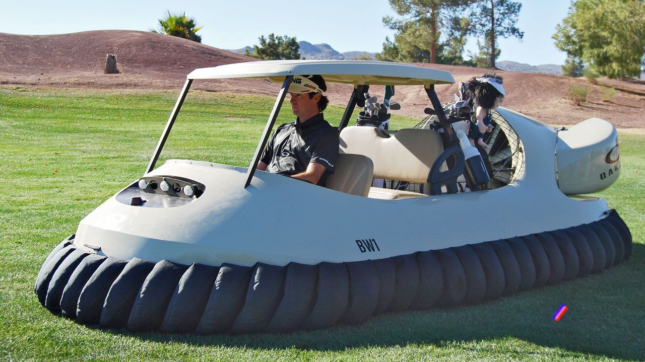 How Oakley Got Bubba Watson Behind The Wheel Of A Hovercraft Golf Cart-SO FUN