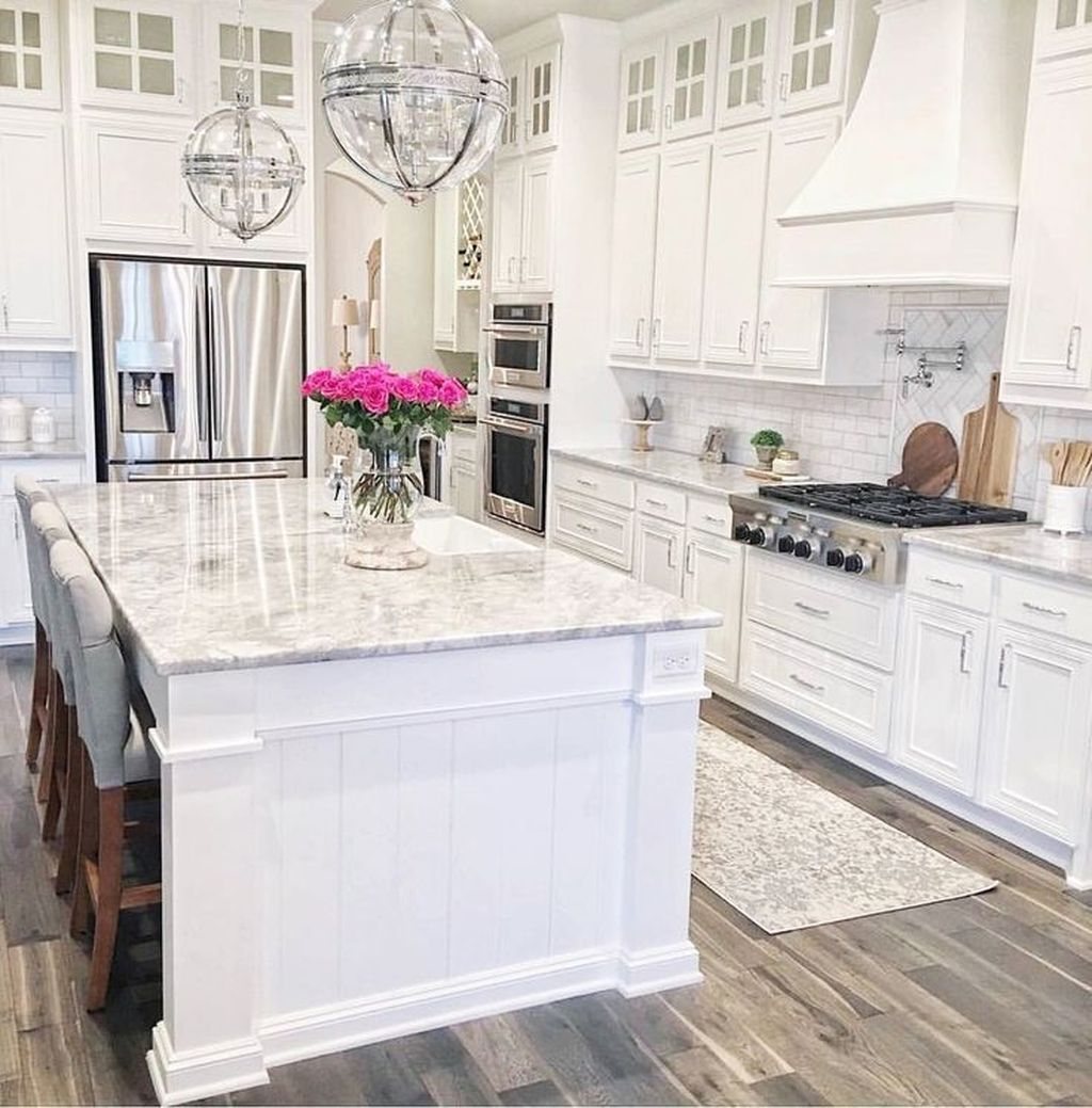 Download Wallpaper White Kitchen Layout Ideas