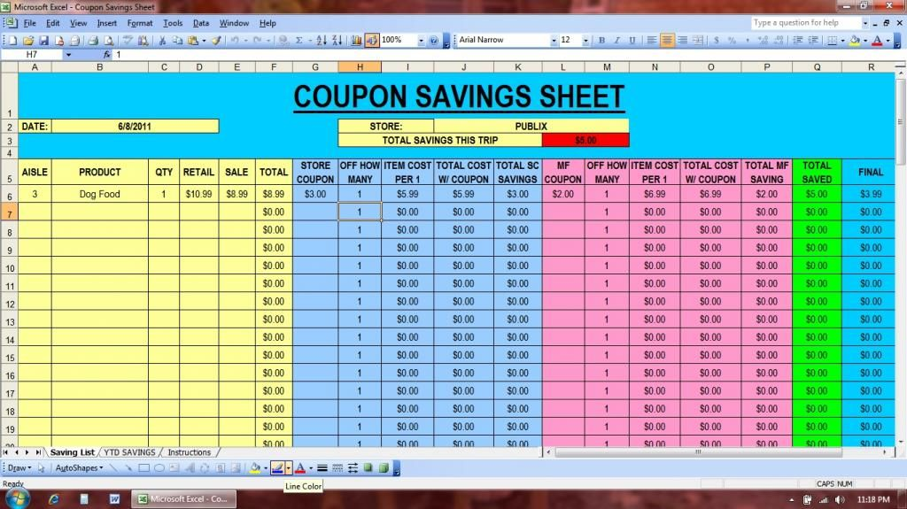 17 Best ideas about Coupon Spreadsheet – Coupon Sheet Template