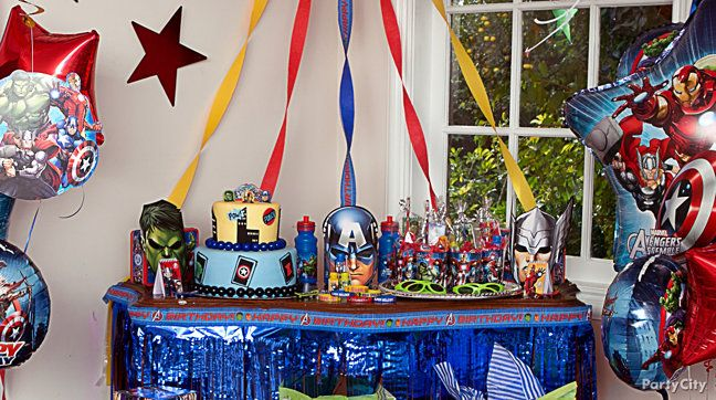 Avengers Party Ideas Guide Party City Birthday ideas Pinterest