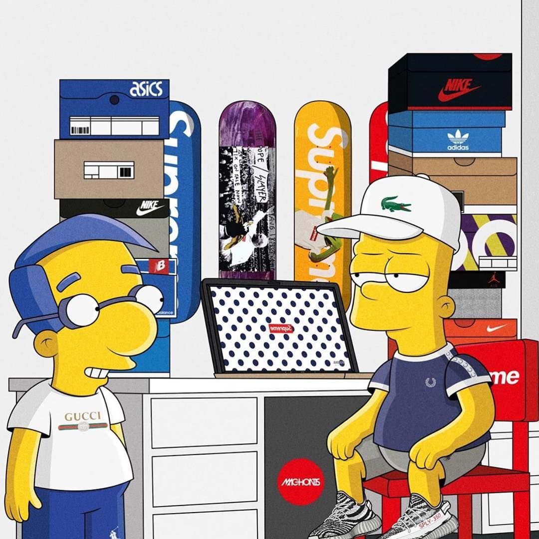10 3k Likes 215 Comments Modernnotoriety Modernnotoriety On Instagram Tag A Homie You 39 Ve Put Onto The Hype Bart Simpson Art Simpsons Art Simpson