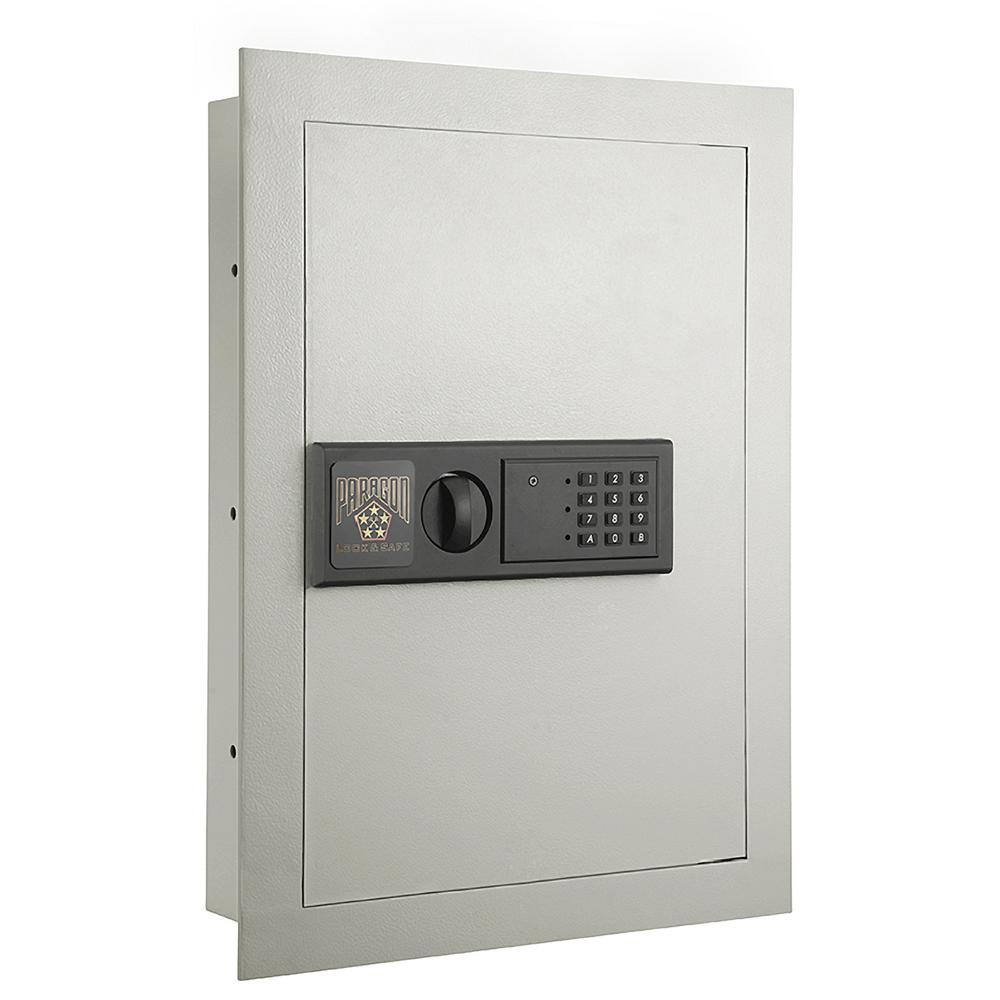 Electronic Wall Safe 0 83 Cf Hidden Large Safes Jewelry Secure Gray
